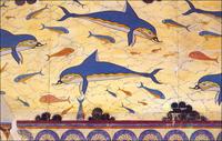 Дельфины. Кносский дворец. Фреска